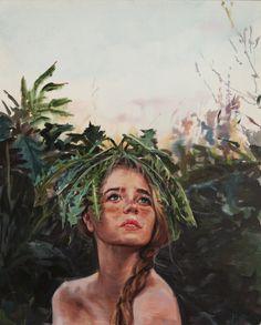 "Saatchi Art Artist: Zhongwen Yu; Oil 2013 Painting ""Dandelion"""