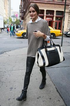 Olivia Palermo : leçon de style en 20 looks : olivia palermo en tenue casual - Mode Plurielles. Look Fashion, Daily Fashion, French Fashion, Fashion Photo, Fashion Beauty, Mode Outfits, Casual Outfits, City Outfits, Fall Outfits