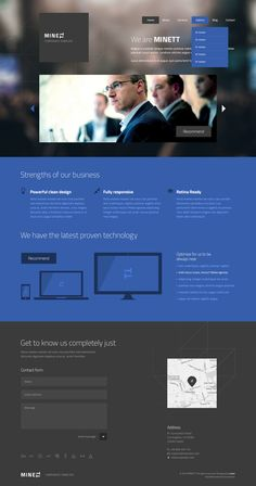 MINETT | Modern template by entiri, via #Behance #Webdesign