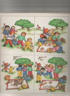 Teo picnic Picture Comprehension, Reading Comprehension, Story Sequencing Pictures, Sequencing Cards, Paragraph Writing, Picture Story, Memory Games, Kids Corner, Speech And Language