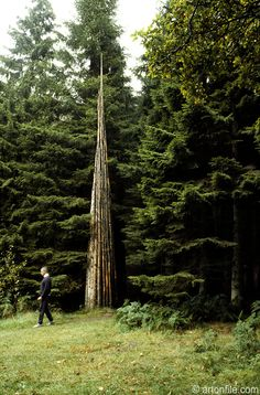 Andy Goldsworthy Seven Spires Grizedale forest Park Cumbria uk