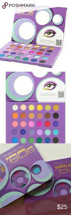 BH Cosmetics Eyes On The 60s Eyeshadow 2PCS New Selead A limited Edition 2PCS great for Gifts.   You'll fall in love with this irresistible Eyes On The 60's eye shadow palette from BH Cosmetics. BH Cosmetics offers quality professional makeup products at amazing prices. Featuring the most brilliantly pigmented colors available. Highest quality ingredients for professional makeup. BH cosmetics  Makeup Eyeshadow