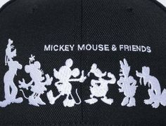 Mickey Mouse & Friends Silhouette Black 59Fifty Fitted Cap by NEW ERA x DISNEY