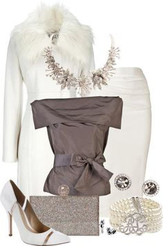 """White Crystal"" by katc on Polyvore"