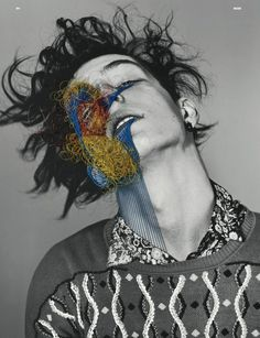 Maurizio Anzeri featured in Dazed and Confused  June 2011. Um. I'm going to start experimenting.