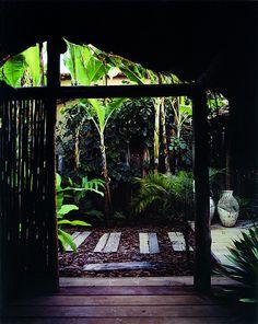 Tropical Spa atmosphere. UXUA Casa Hotel & Spa, Trancoso, Bahia, Brazil.