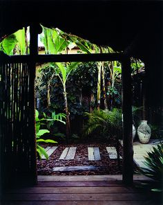 Tropical Spa atmosphere. UXUA Casa Hotel & Spa, Trancoso, Bahia, Brazil.
