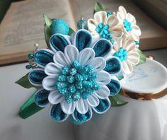 Kanzashi flower/Kanzashi headband/Fabric flower by AirinFlowers