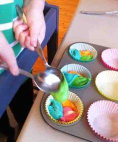 rainbow cupcakes pan