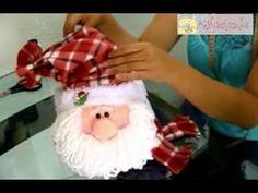 Santa tapa galletas... muy bello, fácil y práctico. - YouTube