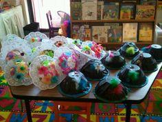 Our tea party hats!