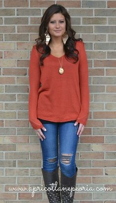 Loose Knit Basic Sweater, $49.00