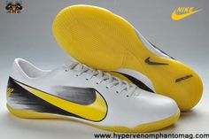 2013 Nike Mercurial Vapor Superfly VI CR Personal Football Boots IC White Yellow Black Soccer Boots For Sale