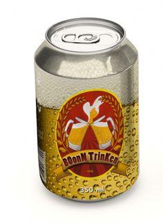 Trabalho da Faculdade Processamento de Imagens - Photoshop Lata da Cerveja BoonTrienk - 3° Semestre
