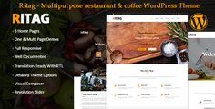 Ritag WordPress Theme is Mobile Friendly food restaurant & coffee WordPress,you can use this WordPress Theme as multi pages or One page website + blog and shop website You can create as many layout...