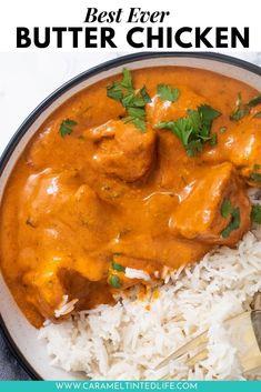 The Best Butter Chicken Recipe, Butter Chicken Sauce, Indian Butter Chicken, Tandoori Chicken Recipe Indian, Easy Indian Recipes, Ethnic Recipes, Asian Recipes, Healthy Recipes, Tandoori Roti