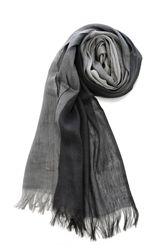 Grey Linen Scarf Pisu Bazaar