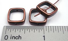 Antique Copper Bead Frame #1: Square 13.5x13.5mmx4mm Bead Frames (8/Pkg)