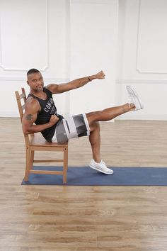 Shaun T knows how to work your abs. This 8-minute video workout will leave your midsection quivering.