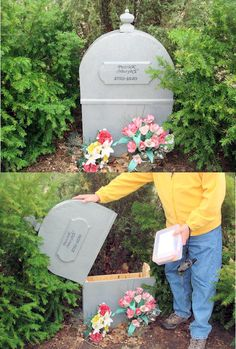 I dont normally like caching in graveyards but this hollow gravestone geocache is awesome!