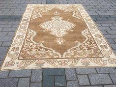 Excited to share the latest addition to my #etsy shop: Brown Turkish Carpet, Oushak Rug, Vintage Rug, 6.4x8.8 ft, Medium carpet, Distressed Carpet, Antique Rug, Boho Rug, Bath Rug, Kitchen Carpet Rugs On Carpet, Carpets, Medium Rugs, Kitchen Carpet, Rustic Rugs, Traditional Rugs, Istanbul Turkey, Vintage Rugs, Handmade Rugs