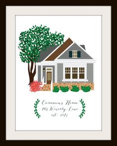 Commission a custom portrait of your home from these awesome Etsy artists #art #custom