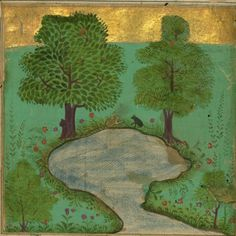 A Mouse and a Frog Near a Pond Jalal al-Din Rumi, Maulana (Author) PERIOD 1073 AH/AD 1663