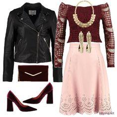 stylizacja - Koronkowa spódnica na weekendowy wieczór