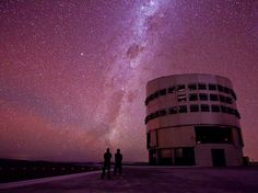Paranal Observatory in Antofagasta, Chile. where you don't need to look through a telescope to see the spiraling Milky Way before your eyes. Astronomical Observatory, Milky Way, Great View, Stargazing, Cosmos, Places To See, Beautiful Places, Around The Worlds, Outer Space