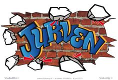 Muursticker full colour graffiti type G - Jurven