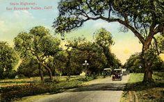 1918 Postcard of State Highway, San Fernando Valley, Calif. :: San Fernando Valley History