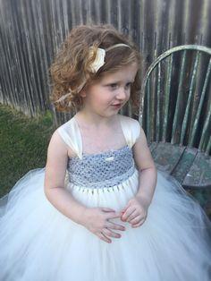 Flower Girl Tutu Dress Vintage Inspired by EllieNSophiaBoutique
