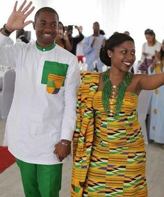 kente styles for bride and groom African Wedding Attire, African Attire, African Wear, African Women, African Dress, African Inspired Fashion, African Print Fashion, African Fashion Dresses, Ankara Fashion