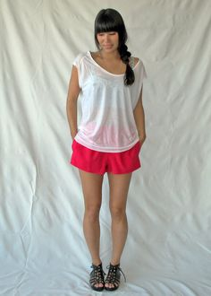 Free Sewing Pattern! The Elise Tee by Fine Motor Skills.