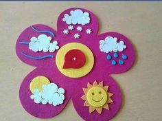 cloud rainbow crafts and weather Preschool Weather, Weather Crafts, Preschool Classroom, Classroom Decor, Preschool Activities, Kids Crafts, Felt Crafts, Diy And Crafts, Class Decoration