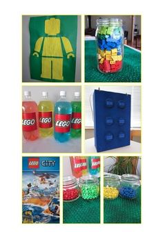 Quess How Many Legos are in the Jar - closest kid wins a prize or jar of legos - Lego Party