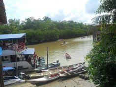 estacionamento das 'naves' fluviais... por Telma Bastos