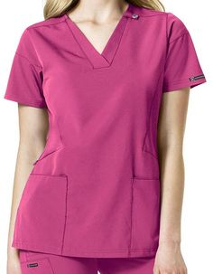 Scrubs Outfit, Scrubs Uniform, Medical Uniforms, Medical Scrubs, Professional Look, Costume, Scrub Tops, V Neck Tops, Blouses For Women