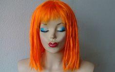 Leeloo hair style Orange wig  Shoulder length wig by kekeshop, $68.80