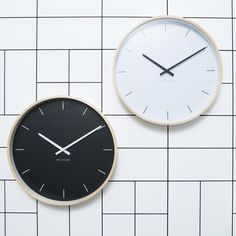 Our HENRY clocks have an eye catching spun plywood frame, which also makes them lightweight and easy to hang. The simple and elegant face means the clock will n Milk, Clock, Instagram Posts, Home Decor, Kitchen, Watch, Decoration Home, Cooking, Room Decor