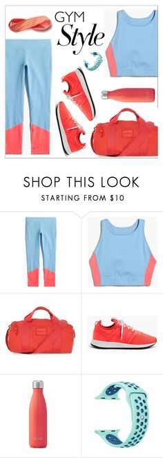 """Work it Out: Gym Essential"" by amchavesj-1 ❤ liked on Polyvore featuring J.Crew, Rebecca Minkoff, New Balance, Swell, Athleta and gymessential"