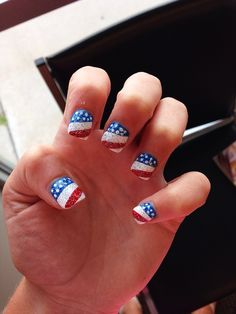 Forth of july nails! Nail design, red white and blue, acrylicnails Fourth Of July Cakes, New Nail Designs, Toe Nail Art, Matte Nails, Manicure And Pedicure, How To Do Nails, Pretty Nails, Hair And Nails, Nail Ideas