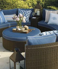 Gear up for a fun and relaxing summer with great company with the Pasadena Modular Outdoor Collection that enables comfortable conversation around appetizers, drinks and more.