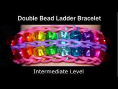 Hoe Maak Je Dubbele Kralen Ladder Rainbow Loom® Armband? Video Dubbele Kralen Ladder Armbandje Maken