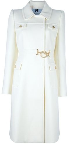 BLUMARINE Mid Length Coat - Lyst