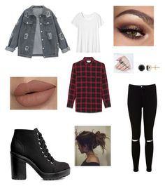 """""""Untitled #1"""" by caroline-hayes-1 on Polyvore featuring Miss Selfridge, H&M, Yves Saint Laurent, Toast and Auriya"""
