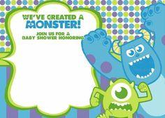 Free monster inc baby shower invite template cute shower ideas monsters inc baby shower invitation filmwisefo