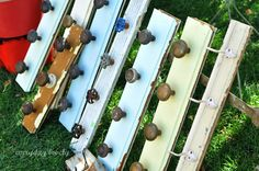 Vintage door knobs for a coat rack - would be cute to hold purses