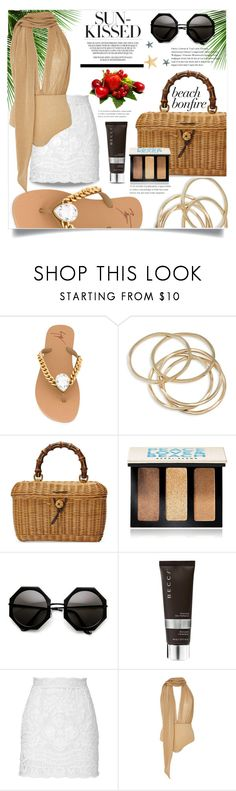 """""""Sun kissed"""" by ornellag ❤ liked on Polyvore featuring Giuseppe Zanotti, ABS by Allen Schwartz, Gucci, Bobbi Brown Cosmetics, Becca, Dolce&Gabbana and Água de Coco"""