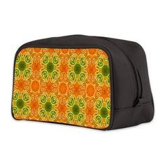 pattern Orange Toiletry Bag